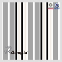 Polyester PVC Coated Stripe Fabric Black and White