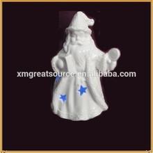 white porcelain santa claus figurine for christmas decortion