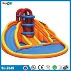 giant lake inflatable water slides for kids and adults/ inflatable slide