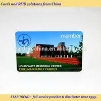 Preprinted plastic card as Memorial card - membership card ISO7810 CR80