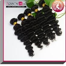 cheap virgin human hair extensions china natural color in deep wave