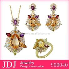 JDJ Latest Design Statement Set Saudi Gold Jewelry