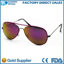 latest style stainless steel frame mirror aviator sunglasses 2015