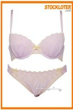 Women Polyester Lilac Bra Stock Outlet