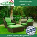 ratán muebles de jardín sofá de ratán conjunto kano 3pc conjunto de muebles al aire libre