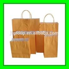 white kraft paper cheap printed custom foldable shopping bag