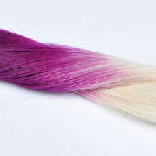 2014 Good Feedback Best Qulaity No Shedding And Tangle Free Hot Selling Cuticle Remy Two Color Hair Extension
