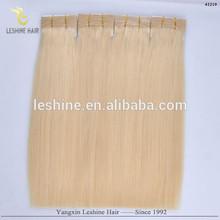 2015 Popular Good Feedback Hot Sale Full Cuticle Human platinum blonde hair extenion