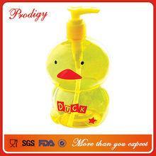 Cute duck shape unique design high quality PET bottles in bales