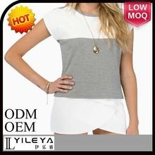 popular design ladies cotton t shirt wholesale