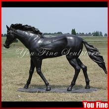 Large Metal Garden Sculpture Antique Bronze Horse Life Size Bronze Sculpture