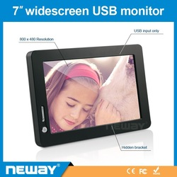 NOT DC power, just USB Powered DisplayLink chip mini touch screen monitor 7 inch