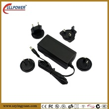 9V 12V 15V 18V 24V 36V GS , C-Tick, SAA, UL,CE,GS desktop safety approved interchangeable power adaptors for CCTV monitor