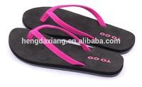 Fashion design Colorful PU strap EVA beach flip flops