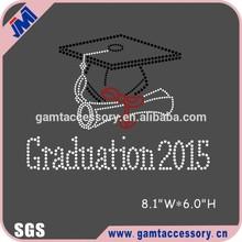 Graduation 2015 rhinestone heat transfer custom design