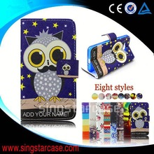 cheap phone cover leather flip case for nokia asha 501