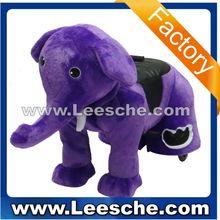Walking animal ride for kids and parents/plush animal ride elephant purple LSJQ-216