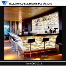 Fancy style hot sale bar furniture led bar table