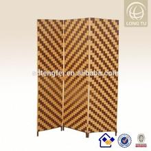 2015 USA living room unique decor restaurant rattan hand weaving wood room dividers