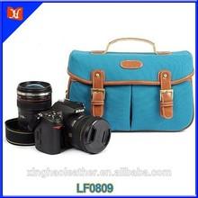 Vintage PU Leather/ Canvas DSLR Camera Shoulder Bag,bag camera