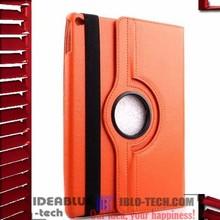 360 Degree rotating pu leather case for ipad air folio cover