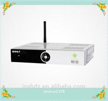 HD DVB S2 digital satellite receiver + android combo smart tv box