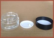 20ml high-grade glass emulsion bottles, cosmetic bottles glass/cream acrylic jars with black cap
