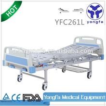 YFC261L two functions manual adjustable medical hospital folding medical bed a21