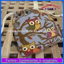 Cheap Night Owl print cotton Bag, printed Owl Hand Bag, Owl printing Canvas Bag