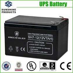 China Sourcing Fair Self Maintenance Lead Acid 12V 7Ah Nife Battery