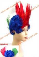 moda qualidade superior preço baixo sintético peruca fã de futebol peruca femal com alta qualidade