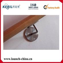 Tubo de aço inoxidável suportes de apoio / suporte de corrimão para escada corrimão de madeira