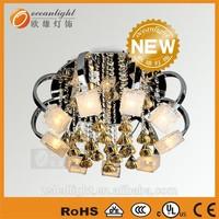 crystal beads flower modern lobby 60x60 ceiling light LM-OM9450 (3)