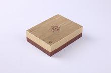 custom high quality wood like paper gift box with lid