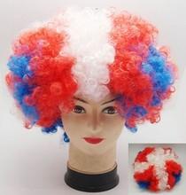 Moda maior qualidade baixo preço sintético football fan peruca de cabelo grips grampos
