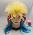 personnalisé coupe du monde de football fans perruque de cheveux goldwell periwig