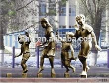 """Outdoor Bronze Sculpture Modern Art Sculpture - """"Walk on Bridge"""""""