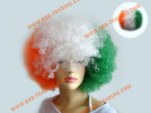 Soccer/football fans wigs/party wigs curl woman black wigs