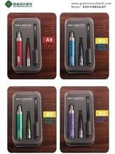 2015 newest rechargeable electronic cigarette hookah 2200mah gs ii battery mega kit with gs h2/ego ii mega kit