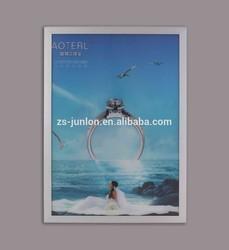 Double side Round angle snap frame LED slim light box / aluminum snap frame/ click frame