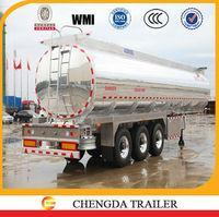 3axles 42000L aluminum tank trailer /aluminum tank/aluminum diesel fuel tank semi trailer for sale