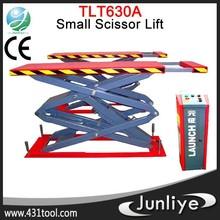 2014 Newly hot sale LAUNCH TLT630A garage equipment small double car scissor lift jacks
