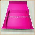 brilhante de cor rosa de papelão caixa de chave magnética eva inserir forma de livro caixa da caixa de presente