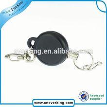 High quality fashion heavy duty retractable reel keychain with custom logo