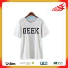 Vosea GEEK Print O-Neck Polyester T Shirt