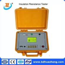 5kv electrical portable digital high insulation resistance meter / ohm tramegger / earthometer