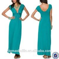 fashion apparel elegant ladies long casual prom dress girls sexy evening dresses v neck sky blue maxi dresses