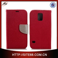 Cross pattern Wallet leather case for Samsung Galaxy S5 Active with Stand