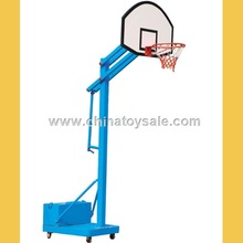 2015 hot sale plastic standard blue pole basketball stand