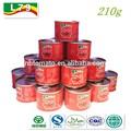 Sıcak satış 210g konserve salça 28-30% brix